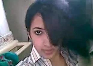 Hot Desi girl recording selfie be decent of bf