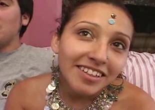 Wild Arab teen woman identically part4